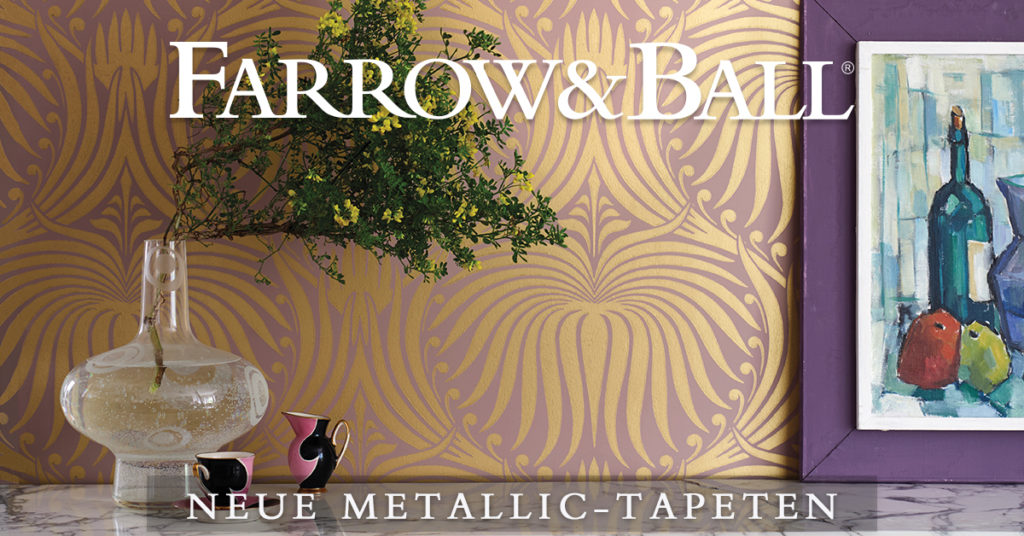 Metallic Tapeten von Farrow and Ball